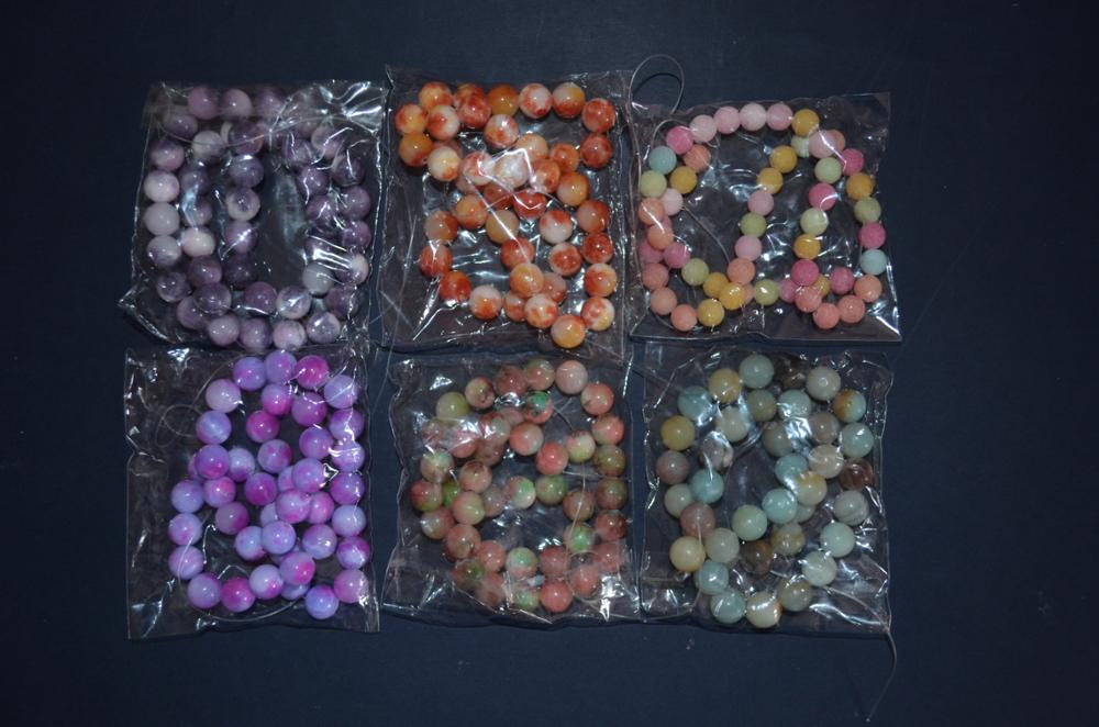 Free Shipping  6 8 10mm Natural Stone Beads Bracelet Round Bosi Jade Stone Purple color for jewelry Making