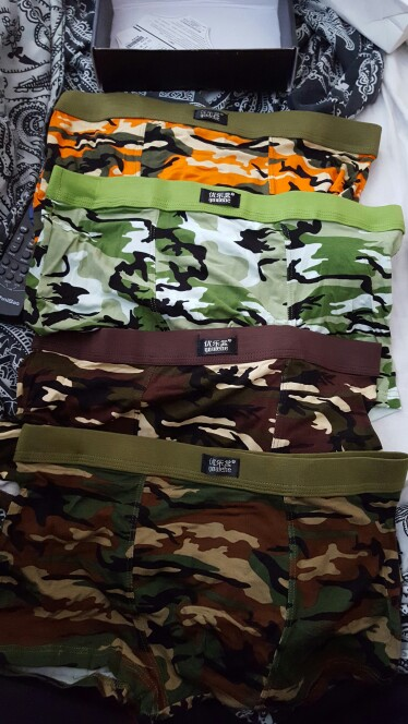 4 piece/lot Mens Underwear Boxers Brand Men Print Boxer Shorts Modal Camouflage Underwear Male Underpants Sexy Brand-clothing