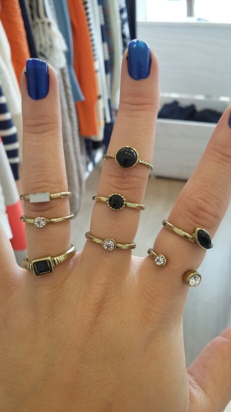 Fashion Style Above The Knuckle Ring Midi Rings Set For Women 2016 HOT Sale 8pcs/set Black Mosaic Cheap CZ Diamond-Jewelry ZIKA