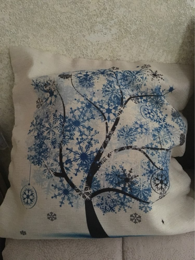Season Life Tree Cotton Linen Colorful Decorative Pillow Case Chair Square Waist and Seat 45x45cm Pillow Cover Home Textile