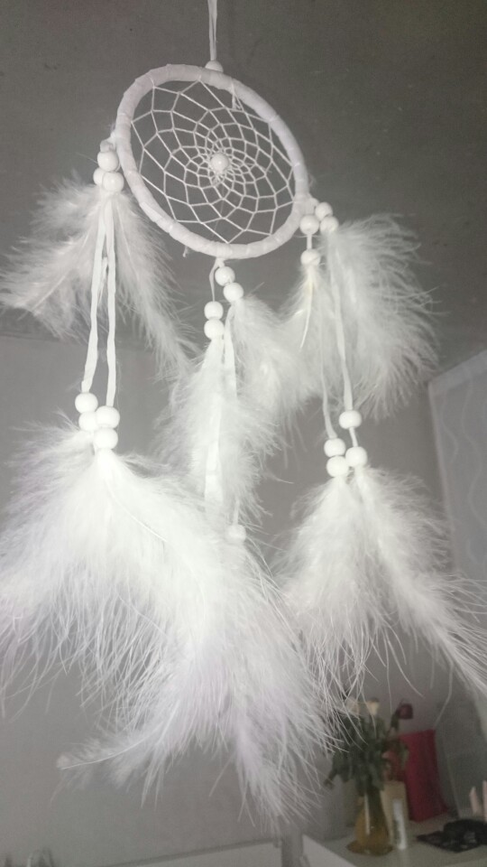 Newest Handmade Dream Catcher Net With feathers Hanging Decoration Decor Craft Gift Wind Chimes White