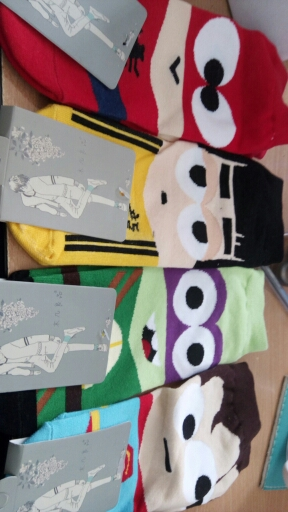14PCS=7pairs 42, 43, 44 MARVEL Iron Batman Superman SpiderMan Captain America cartoon ankle funny socks calcetines  chaussette