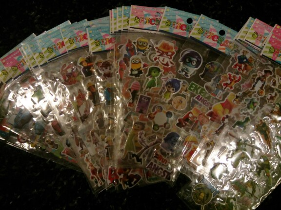 50 sheets/lot 2016 Hot Cartoon Characters Puffy Stickers Kids Classic Toys for Boys