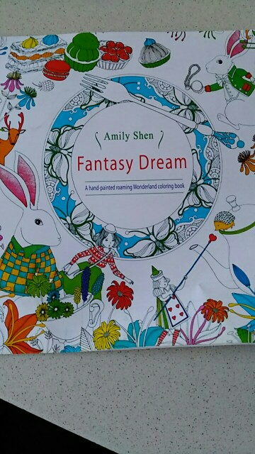 A Hand Painted Explore Wonderland Coloring Book 24 Pages Fantasy Dream Graffiti Painting Books