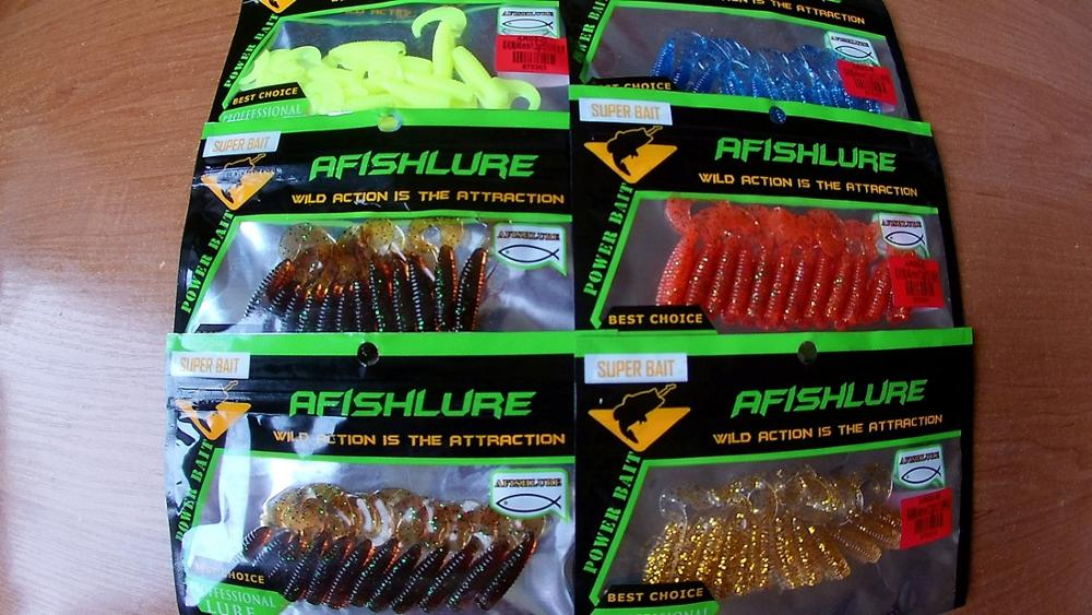 12pcs/lot Afishlure curly tail soft worm 45mm 1.2g artificial Panfish Crappie Bream Trout crankbait soft bait fishing lure
