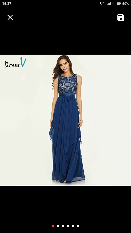 Dressv blue draped long evening dress sashes ankle length sleeveless scoop neck elegant lace evening dresses formal party dress